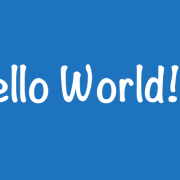 Hello World 2.0
